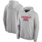 Wholesale Cheap Cincinnati Reds Nike Color Bar Club Pullover Hoodie Gray