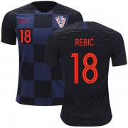 Wholesale Cheap Croatia #18 Rebic Away Soccer Country Jersey