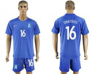 Wholesale Cheap Greece #16 Dimitrios Away Soccer Country Jersey