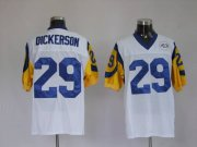 Wholesale Cheap Mitchell and Ness Rams #29 Eric Dickerson Stitched White NFL Jersey