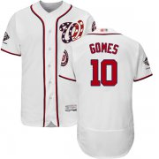 Wholesale Cheap Nationals #10 Yan Gomes White Flexbase Authentic Collection 2019 World Series Champions Stitched MLB Jersey