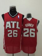 Wholesale Cheap Men's Atlanta Hawks #26 Kyle Korver Red Swingman Jersey