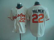 Wholesale Cheap Mitchell And Ness Orioles #22 Jim Palmer Cream Throwback Stitched MLB Jersey