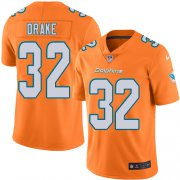 Wholesale Cheap Nike Dolphins #32 Kenyan Drake Orange Men's Stitched NFL Limited Rush Jersey