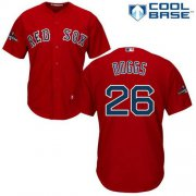 Wholesale Cheap Red Sox #26 Wade Boggs Red New Cool Base 2018 World Series Stitched MLB Jersey