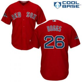 Wholesale Cheap Red Sox #26 Wade Boggs Red New Cool Base 2018 World Series Champions Stitched MLB Jersey
