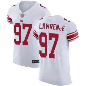 Wholesale Cheap Nike Giants #97 Dexter Lawrence White Men\'s Stitched NFL Vapor Untouchable Elite Jersey