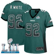 Wholesale Cheap Nike Eagles #92 Reggie White Midnight Green Team Color Super Bowl LII Women's Stitched NFL Elite Drift Fashion Jersey