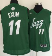 Wholesale Cheap Men's Utah Jazz #11 Dante Exum adidas Green 2016 Christmas Day Stitched NBA Swingman Jersey