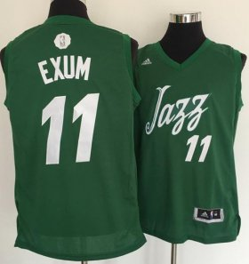 Wholesale Cheap Men\'s Utah Jazz #11 Dante Exum adidas Green 2016 Christmas Day Stitched NBA Swingman Jersey