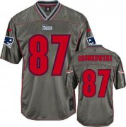 Wholesale Cheap Nike Patriots #87 Rob Gronkowski Grey Youth Stitched NFL Elite Vapor Jersey