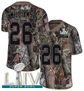 Wholesale Cheap Nike Chiefs #26 Damien Williams Camo Super Bowl LIV 2020 Men's Stitched NFL Limited Rush Realtree Jersey