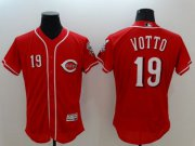 Wholesale Cheap Reds #19 Joey Votto Red Flexbase Authentic Collection Stitched MLB Jersey