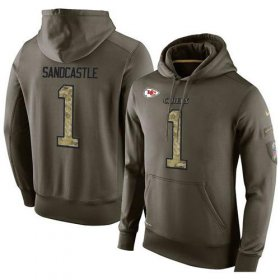 Wholesale Cheap NFL Men\'s Nike Kansas City Chiefs #1 Leon Sandcastle Stitched Green Olive Salute To Service KO Performance Hoodie