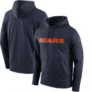 Wholesale Cheap Men's Chicago Bears Nike Navy Performance Circuit Wordmark Essential Pullover Hoodie
