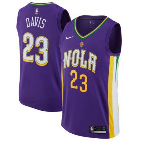 Wholesale Cheap Nike New Orleans Pelicans #23 Anthony Davis Purple NBA Swingman City Edition Jersey