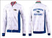Wholesale Cheap NFL Baltimore Ravens Heart Jacket White