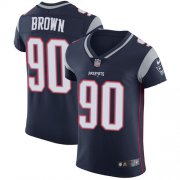 Wholesale Cheap Nike Patriots #90 Malcom Brown Navy Blue Team Color Men's Stitched NFL Vapor Untouchable Elite Jersey