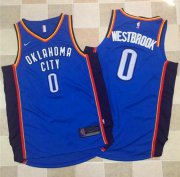 Wholesale Cheap Nike Oklahoma City Thunder #0 Russell Westbrook Blue Stitched NBA Jersey