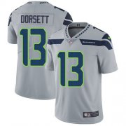 Wholesale Cheap Nike Seahawks #13 Phillip Dorsett Grey Alternate Men's Stitched NFL Vapor Untouchable Limited Jersey