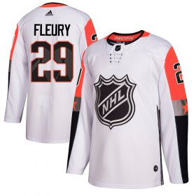 Wholesale Cheap Adidas Golden Knights #29 Marc-Andre Fleury White 2018 All-Star Pacific Division Authentic Stitched NHL Jersey
