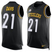 Wholesale Cheap Nike Steelers #21 Sean Davis Black Team Color Men's Stitched NFL Limited Tank Top Jersey