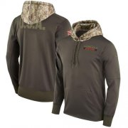 Wholesale Cheap Youth Cincinnati Bengals Nike Olive Salute to Service Sideline Therma Pullover Hoodie