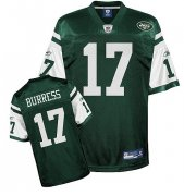 Wholesale Cheap Jets #17 Plaxico Burress Green Stitched NFL Jersey