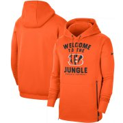 Wholesale Cheap Cincinnati Bengals Nike Sideline Local Performance Pullover Hoodie Orange