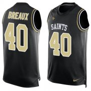 Wholesale Cheap Nike Saints #40 Delvin Breaux Black Team Color Men's Stitched NFL Limited Tank Top Jersey