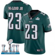 Wholesale Cheap Nike Eagles #23 Rodney McLeod Jr Midnight Green Team Color Super Bowl LII Men's Stitched NFL Vapor Untouchable Limited Jersey