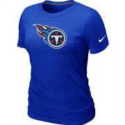 Wholesale Cheap Women's Nike Tennessee Titans Logo NFL T-Shirt Blue