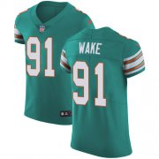 Wholesale Cheap Nike Dolphins #91 Cameron Wake Aqua Green Alternate Men's Stitched NFL Vapor Untouchable Elite Jersey
