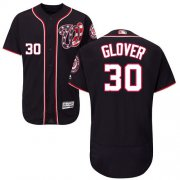 Wholesale Cheap Nationals #30 Koda Glover Navy Blue Flexbase Authentic Collection Stitched MLB Jersey