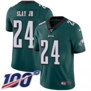 Wholesale Cheap Nike Eagles #24 Darius Slay Jr Green Team Color Men's Stitched NFL 100th Season Vapor Untouchable Limited Jersey