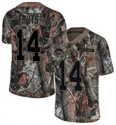 Wholesale Cheap Nike Chargers #14 Dan Fouts Camo Men's Stitched NFL Limited Rush Realtree Jersey