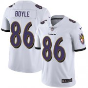 Wholesale Cheap Nike Ravens #86 Nick Boyle White Men's Stitched NFL Vapor Untouchable Limited Jersey