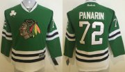 Wholesale Blackhawks #72 Artemi Panarin Green Stitched Youth NHL Jersey