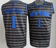 Wholesale Cheap New York Knicks #1 Amare Stoudemire Gray With Black Pinstripe Jersey