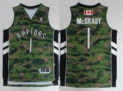 Wholesale Cheap Men's Toronto Raptors #1 Tracy McGrady Revolution 30 Swingman Camo Short-Sleeved Jersey