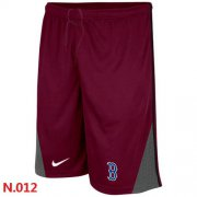 Wholesale Cheap Nike MLB Boston Red Sox Performance Training Shorts Red