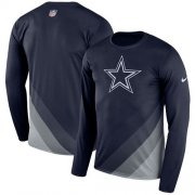 Wholesale Cheap Men's Dallas Cowboys Nike Navy Sideline Legend Prism Performance Long Sleeve T-Shirt