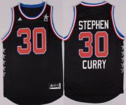 Wholesale Cheap 2015 NBA Western All-Stars #30 Stephen Curry Revolution 30 Swingman Black Jersey