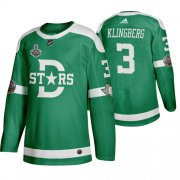 Wholesale Cheap Adidas Dallas Stars #3 John Klingberg Men's Green 2020 Stanley Cup Final Stitched Classic Retro NHL Jersey