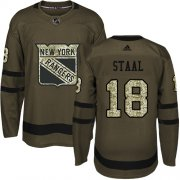 Wholesale Cheap Adidas Rangers #18 Marc Staal Green Salute to Service Stitched Youth NHL Jersey