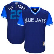 "Wholesale Cheap Blue Jays #29 Devon Travis Navy ""The Babby"" Players Weekend Authentic Stitched MLB Jersey"
