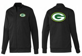 Wholesale Cheap NFL Green Bay Packers Team Logo Jacket Black_1