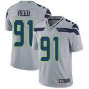 Wholesale Cheap Nike Seahawks #91 Jarran Reed Grey Alternate Men's Stitched NFL Vapor Untouchable Limited Jersey
