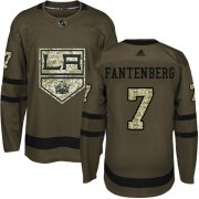 Wholesale Cheap Adidas Kings #7 Oscar Fantenberg Green Salute to Service Stitched NHL Jersey