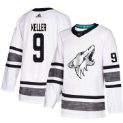 Wholesale Cheap Adidas Coyotes #9 Clayton Keller White Authentic 2019 All-Star Stitched Youth NHL Jersey